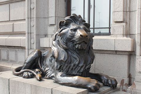 Hot Selling Siting Bronze Lion Statues