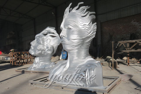 2017 Popular Modern Metal Sculpture in Stainless Steel for Sale