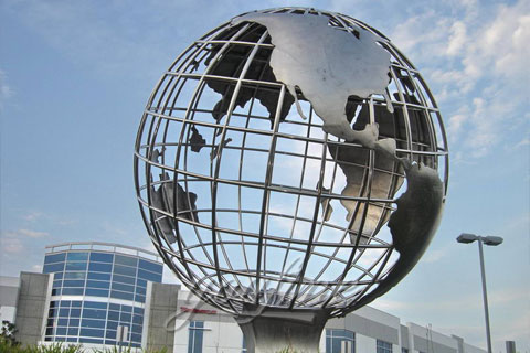 Mirror Polished Stainless Steel Sculpture for Outdoor