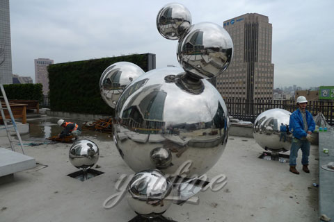 Modern China Outdoor Abstract Sculpture in Stainless Steel