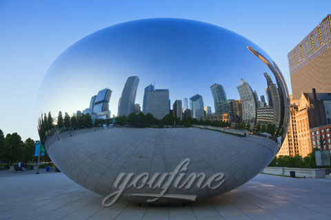 Outdoor Mirror polished Large Stainless Steel Sculptures