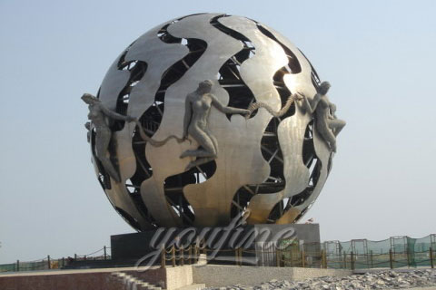 Outdoor Modern Abstract Full round sculptures on stand in park for sale