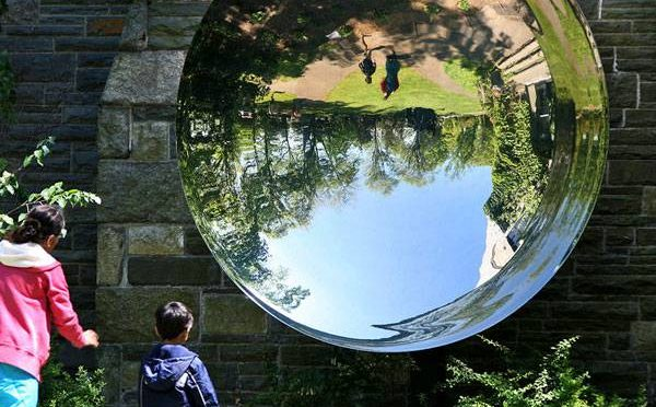 Outdoor Modern Abstract Polished Mirror Stainless Steel Sculptures Designs 1