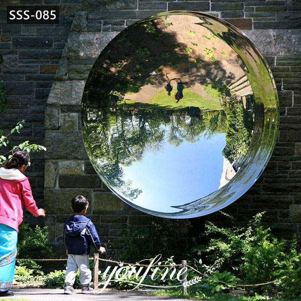 Outdoor Modern Abstract Polished Mirror Stainless Steel Sculptures Designs for Sale SSS-085