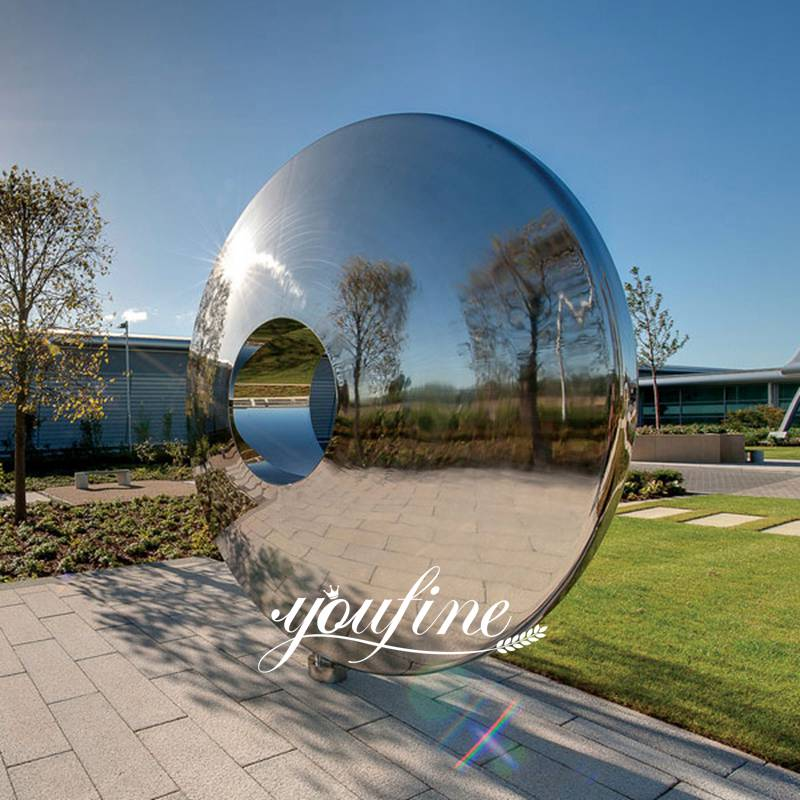Outdoor Modern Abstract Polished Mirror Stainless Steel Sculptures Designs