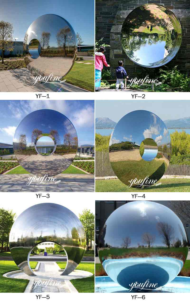Outdoor Modern Abstract Polished Mirror Stainless Steel Sculptures Designs More Designs