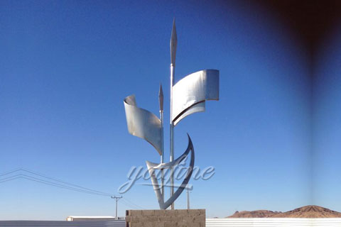 stainless steel abstrast sculpture for decor
