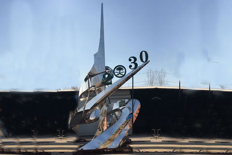 Stainless steel sculpture for outdoor for client from Saudi Arabia