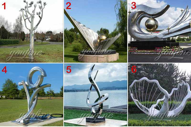 High Polished Stainless Steel Kinetic Sculpture