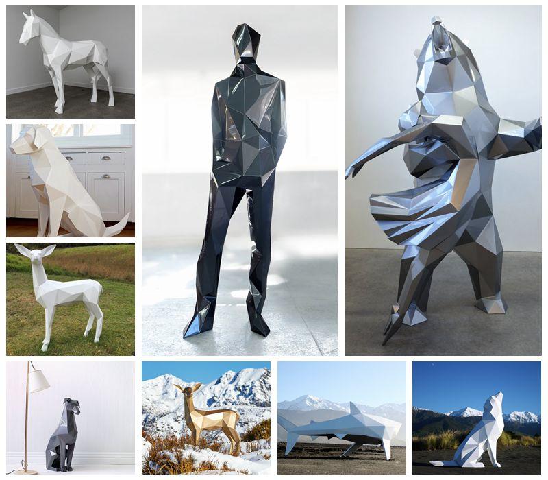 Modern Stainless Steel Balloon Dog Sculpture