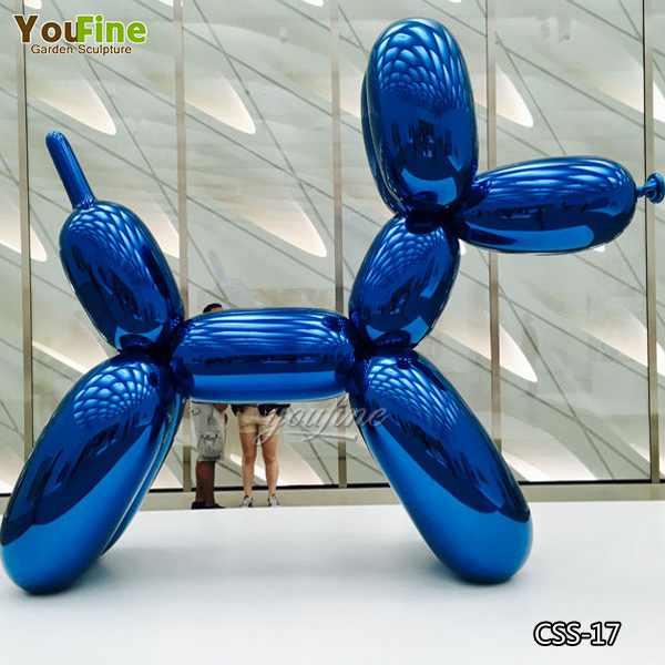 Outdoor Modern Jeff Koons Balloon Dog Stainless Steel Sculpture Replica Manufacturer CSS-17