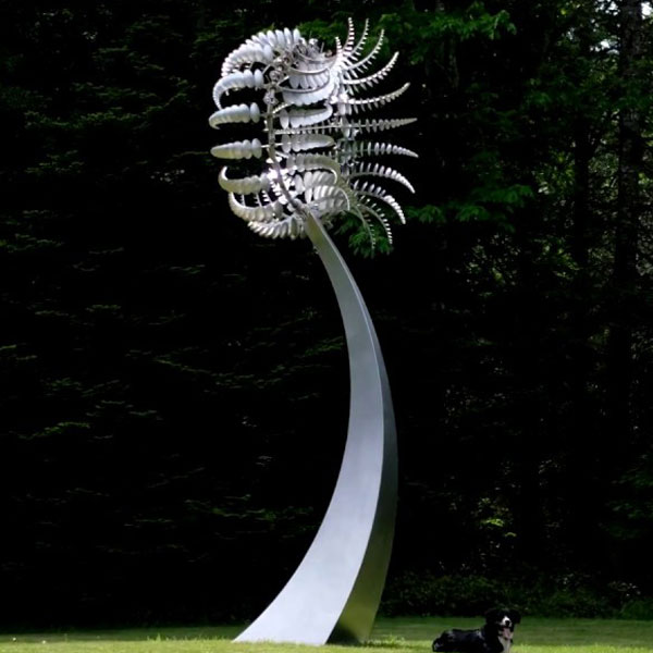 World-renowned Outdoor High Polished Stainless Steel Kinetic Sculpture Replica CSS-47
