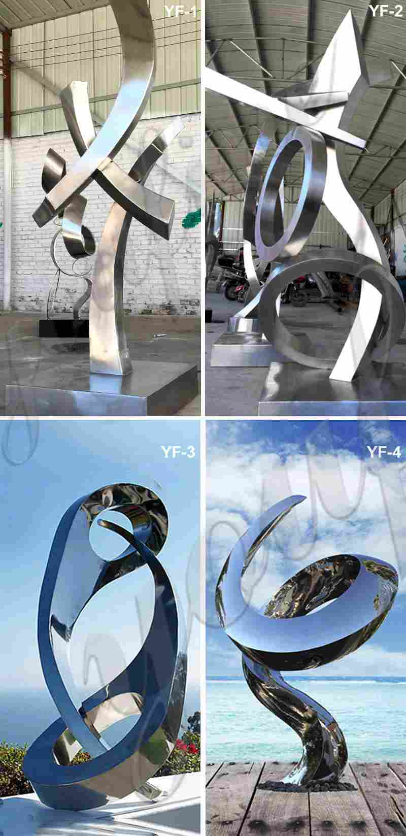 Abstract Stainless Steel Tree Sculpture