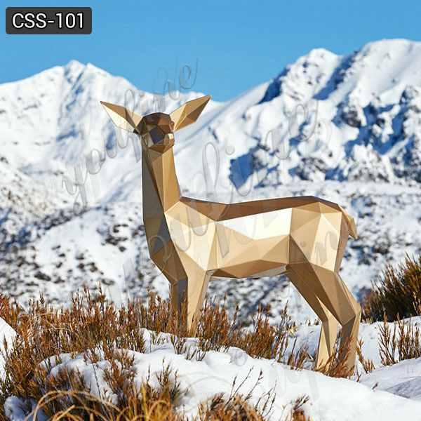 Beautiful Custom Art Craft Stainless Steel Deer Sculpture for Garden Supplier CSS-101