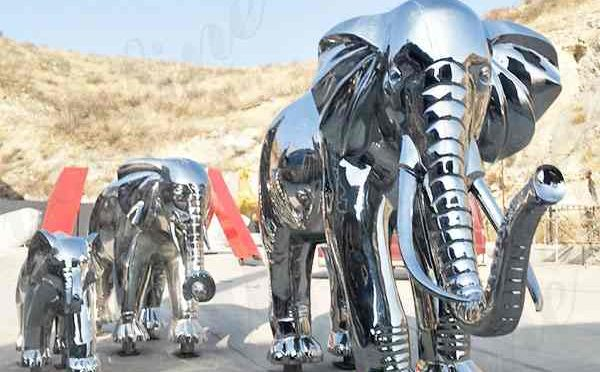 Large Size or Customized Stainless Steel Elephant Sculpture for Decor Prices CSS-137