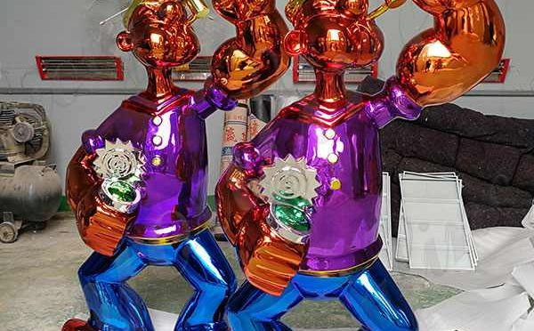 Outdoor Decorative Life Size Jeff Koons Stainless Steel Sculpture Replica for Sale CSS-141