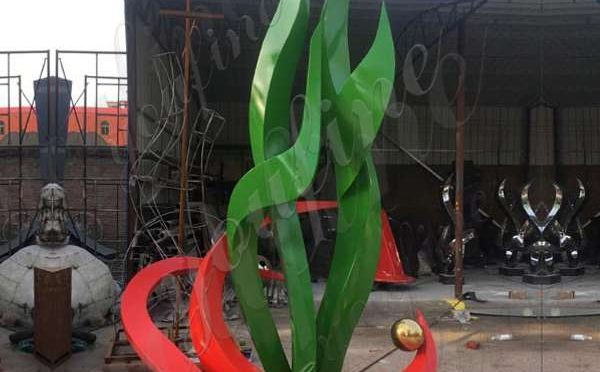 High-polished Large Size Abstract Stainless Steel Outdoor Sculpture Design for Sale CSS-79