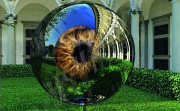 Modern High-polished Outdoor Stainless Steel Eyeball Garden Sculpture Design Maker CSS-80