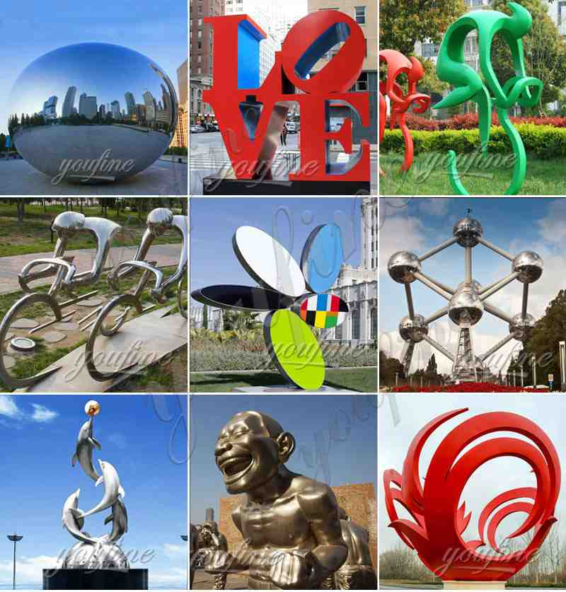 Garden Mirror Stainless Steel Sculptures