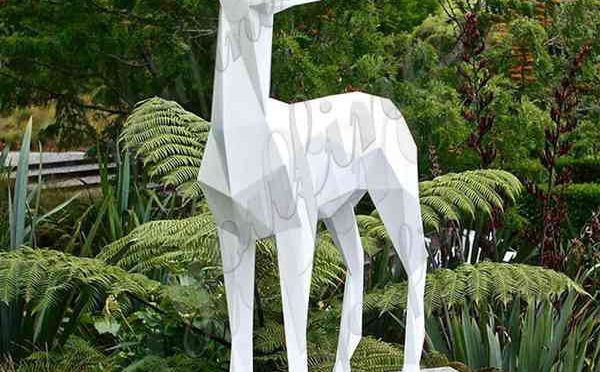 High-quality Abstract Stainless Steel Deer Garden Sculpture Design for Sale CSS-52