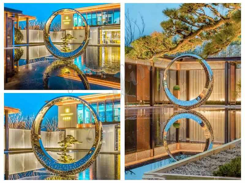 Mirror Stainless Steel Ring Sculpture