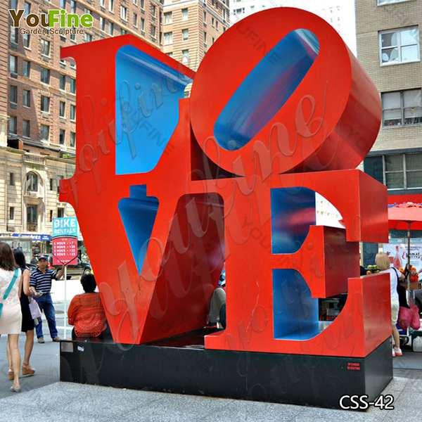 Modern Abstract Stainless Steel LOVE Letter Sculptures Design Supplier CSS-42