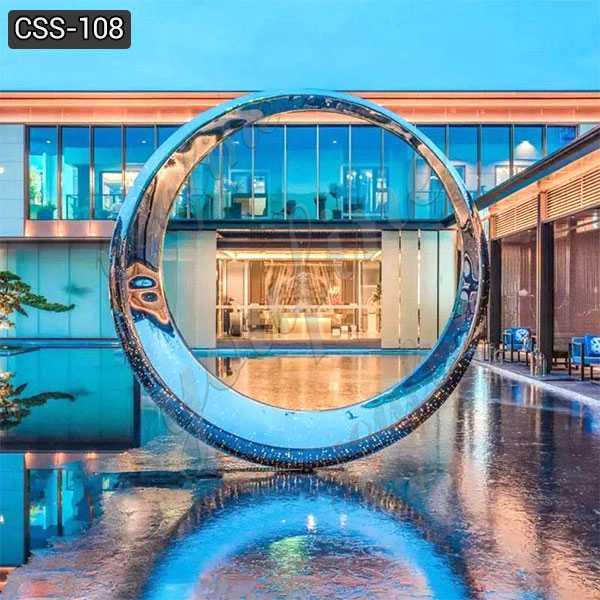Outdoor Garden Mirror Stainless Steel Ring Sculpture Wholesale CSS-108