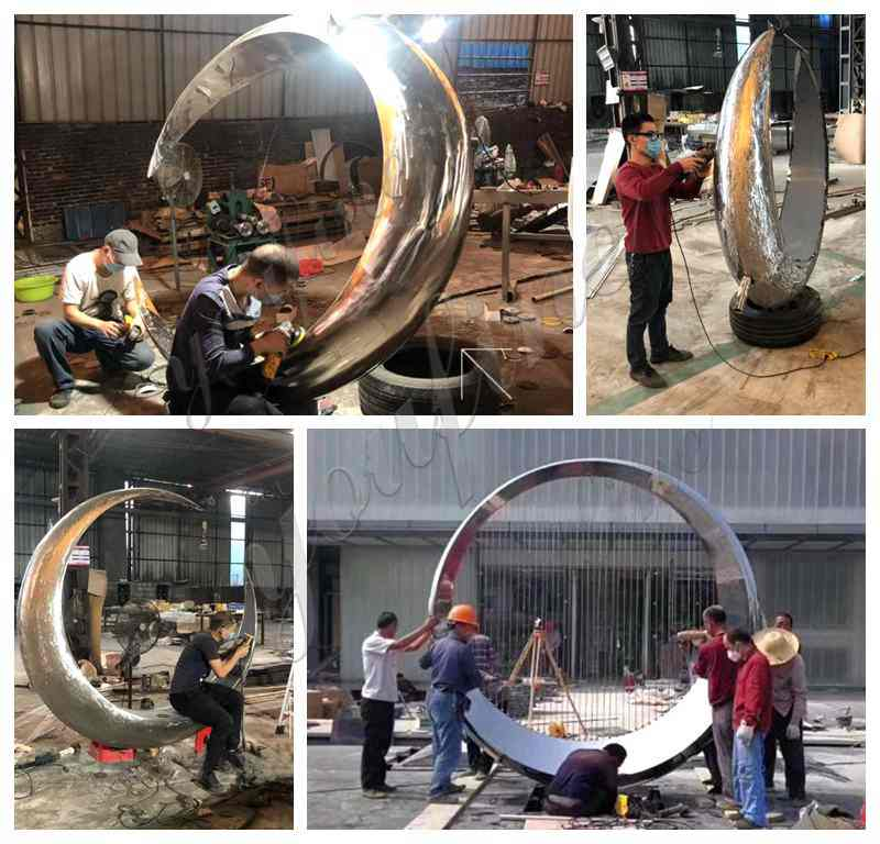 Stainless Steel Ring Sculpture
