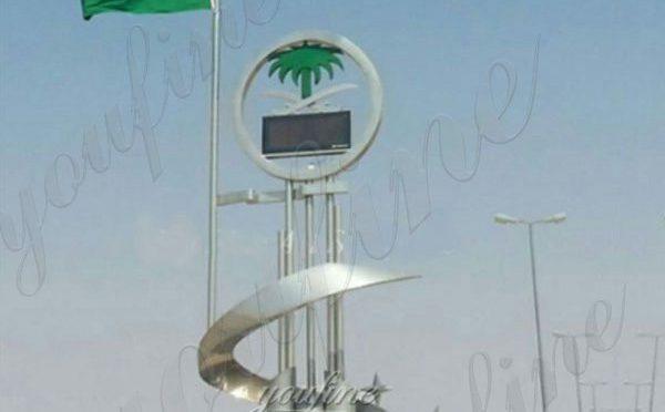 Giant Metal Stainless Steel Outdoor Sculpture Design for Saudi Arabia Manufacturer CSS-08