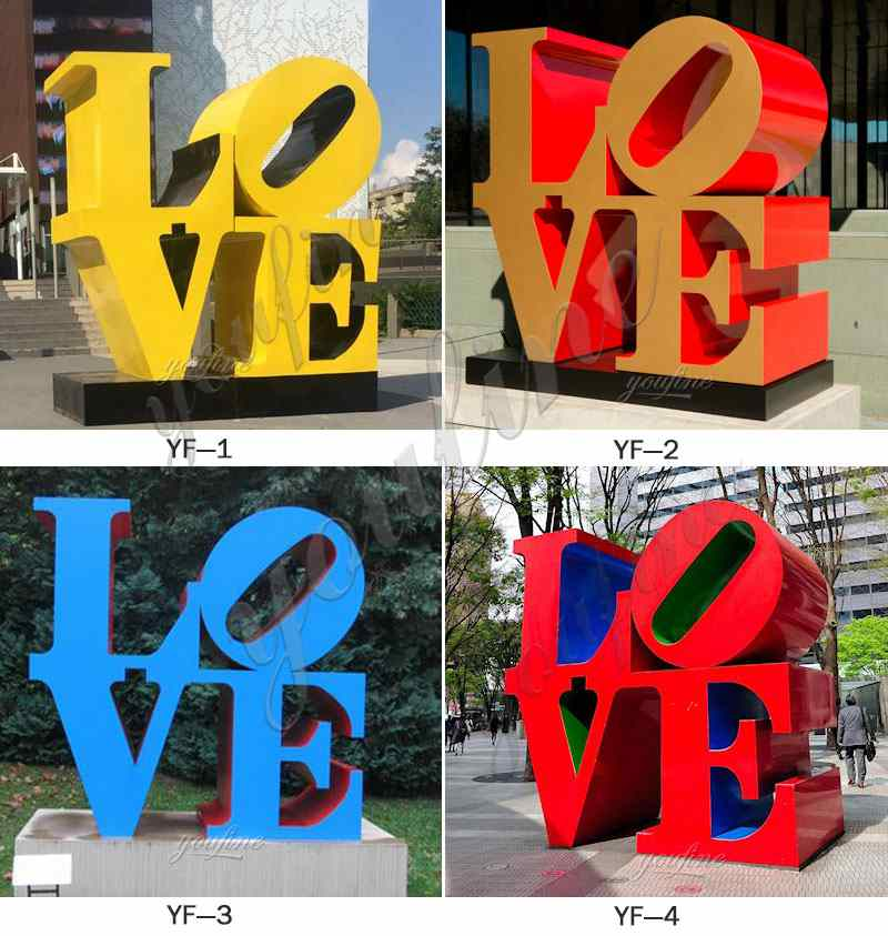 Stainless Steel LOVE Sculptures