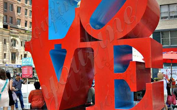 Stainless Steel Love Sculpture - a sculpture with special meaning