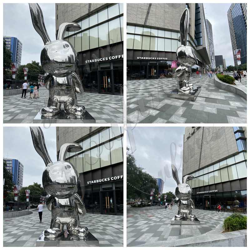 Stainless Steel Rabbit Sculpture