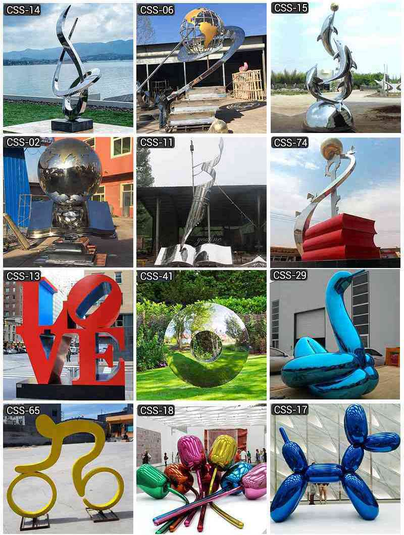 Outdoor Modern Abstract Mirror Stainless Steel Eye Sculptures for Sale More Designs
