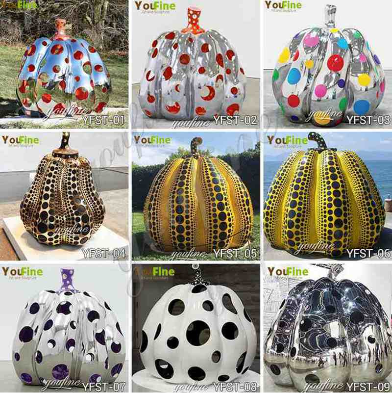 Hotel Lobby Abstract Metal Pumpkin Sculptures for Sale CSS-190