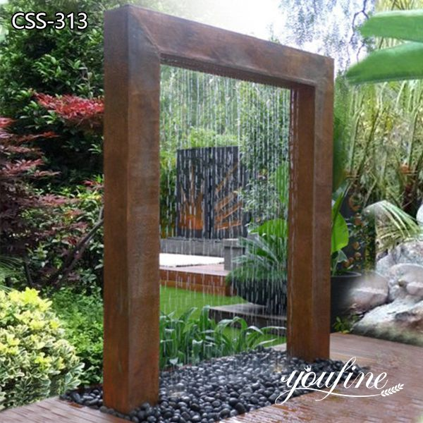 Large Corten Steel Water Feature Garden Decor for Sale CSS-313