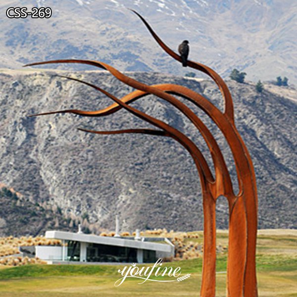 Outdoor Corten Steel Tree Sculpture Garden Art for Sale