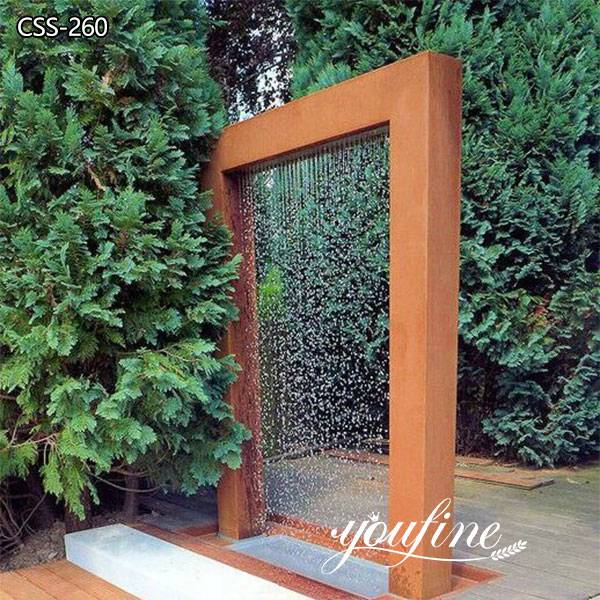 Outdoor Rusty Metal Water Fountain Sculpture for Sale