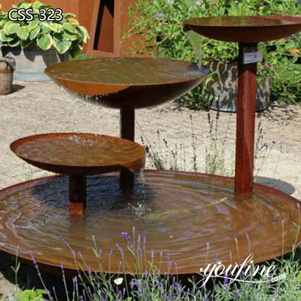 Rusty Garden Art Corten Steel Water Feature for Sale