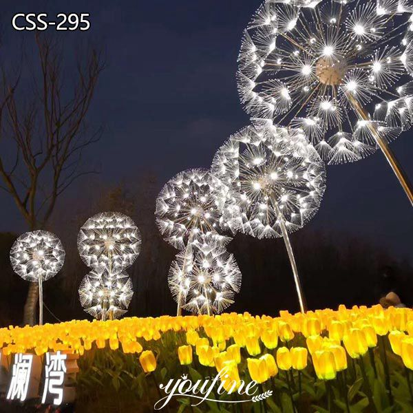 Shopping Mall Metal Dandelion Lighting Sculpture for Sale CSS-295