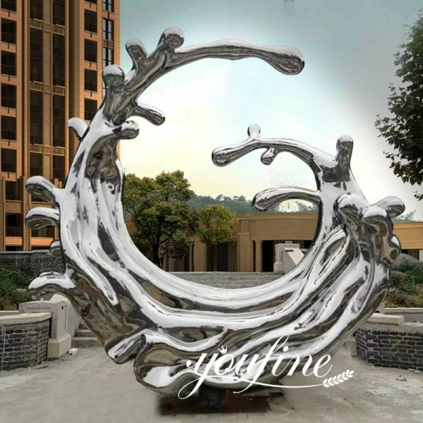 High Polish Modern Stainless Steel Sculpture Artistic for Sale
