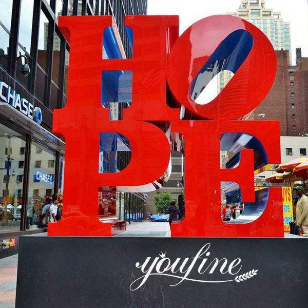 Outdoor Large Stainless Steel Letters Sculpture Colorful Word for Sale CSS-280