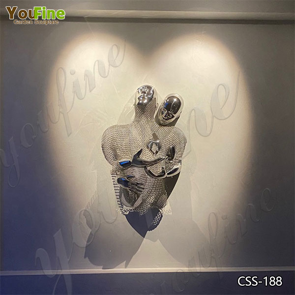 Modern Metal Abstract Love Sculpture Artists for Wall for Sale CSS-188