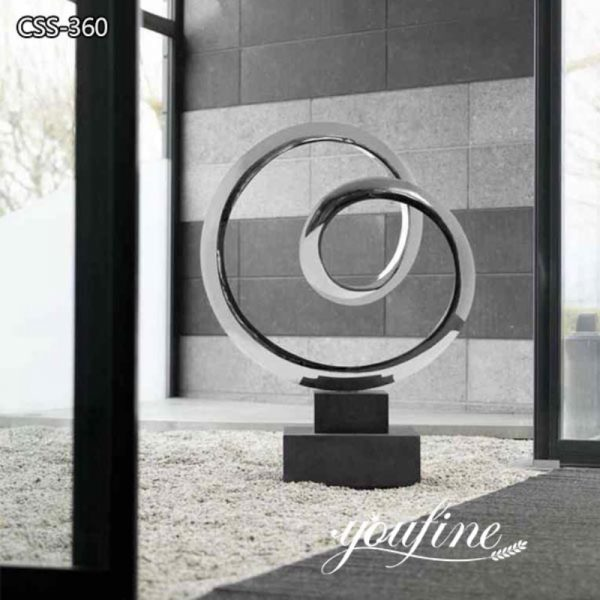 Mirror Polished Stainless steel Mobius Loop Sculpture for Sale CSS-360