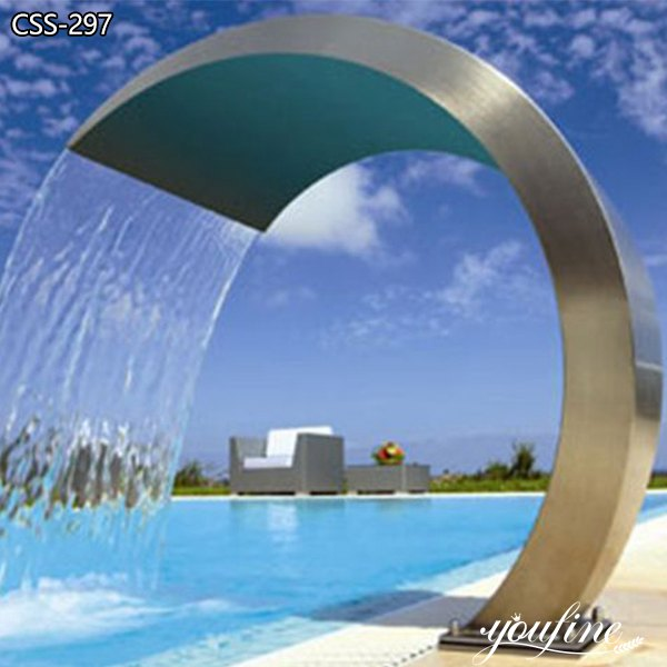 Outdoor Brushed Metal Water Fountain for Sale CSS-297