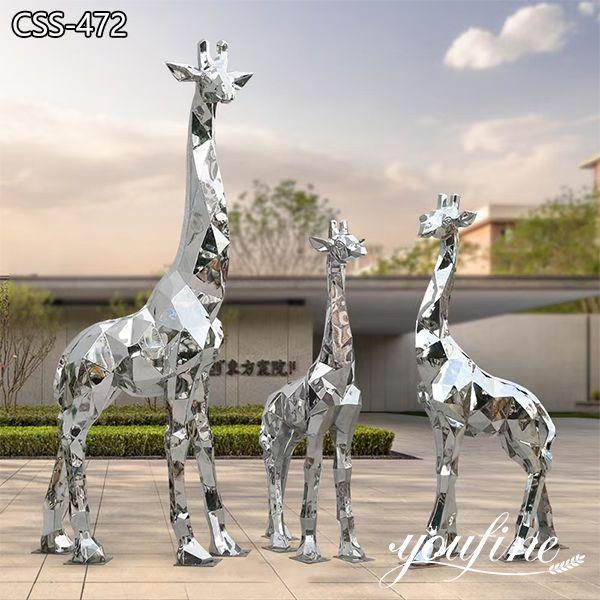 Geometric Metal Giraffe Statue Modern Design for Sale CSS-472