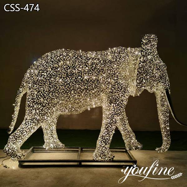 Metal Elephant Sculpture Shopping Hall Decor for Sale CSS-474 (2)